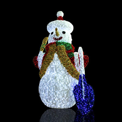 3D Snowman Crystal Sculpture Motif