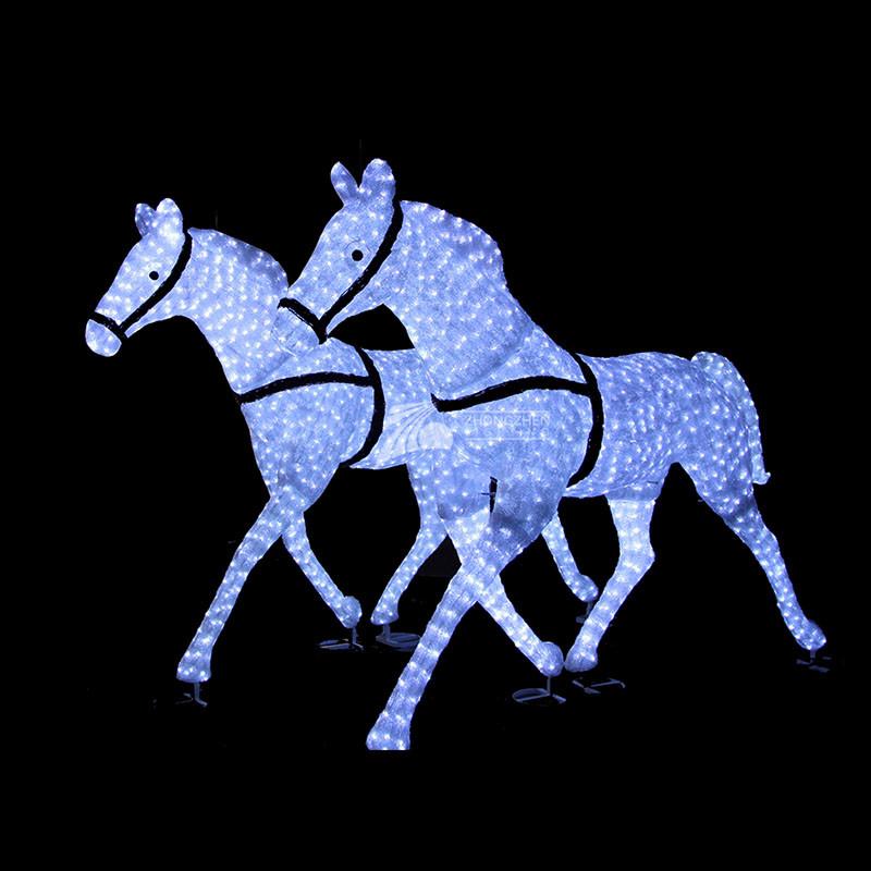 3D Horse Crystal Sculpture Motif