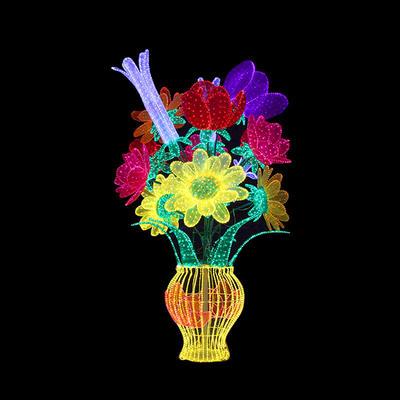 3D Vase Motif Light
