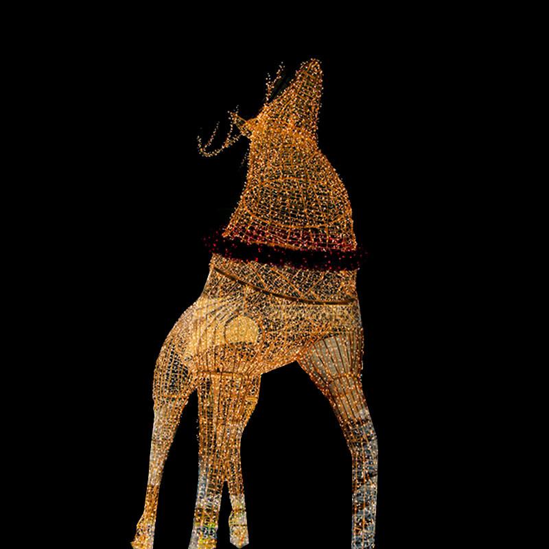 3D Reindeer Led Motif Light